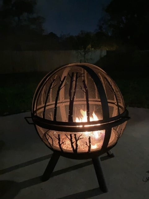 firepit with dome cover