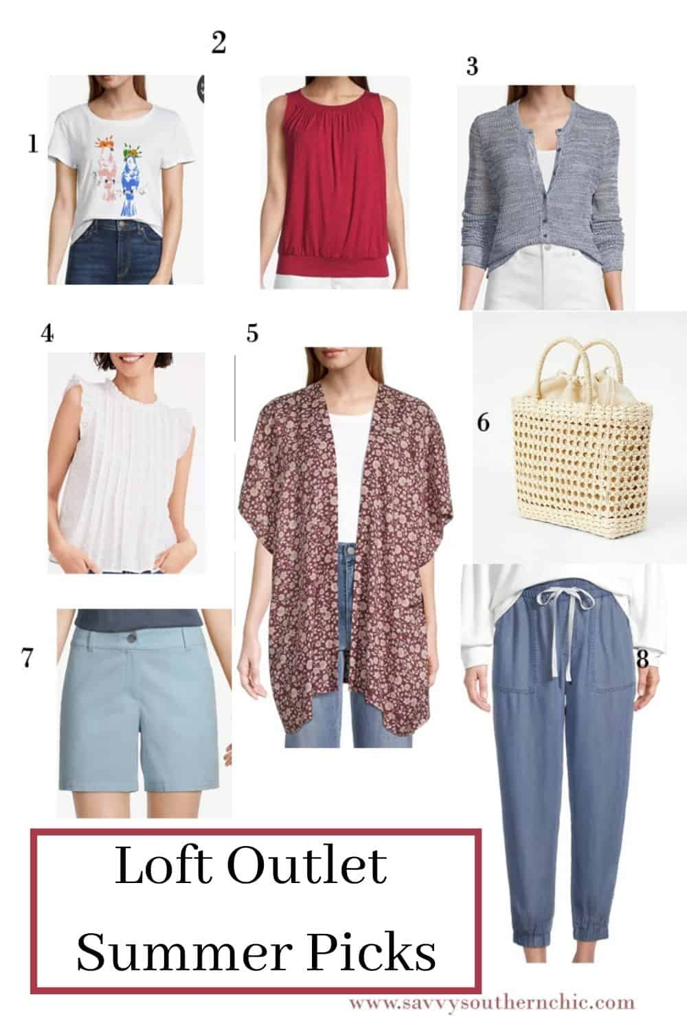 Summer clothes from Loft Outlet