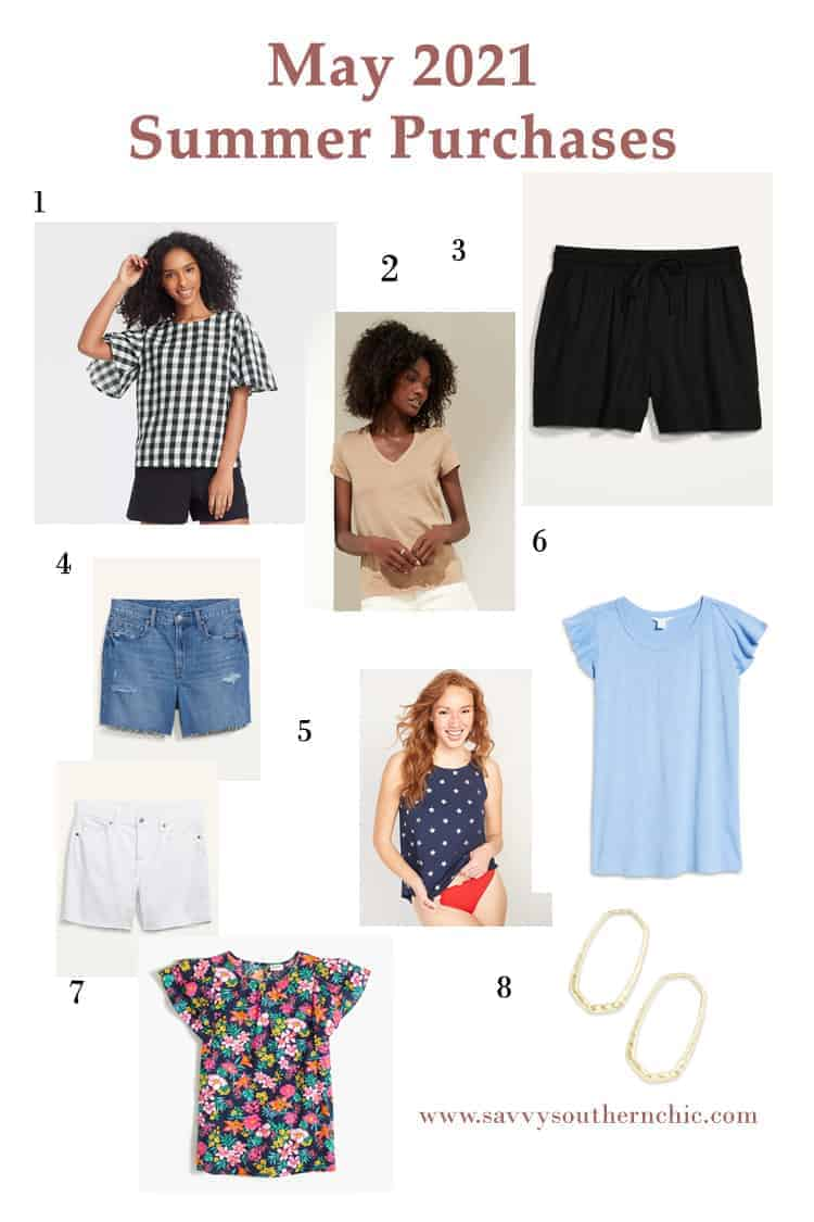 summer clothing purchases