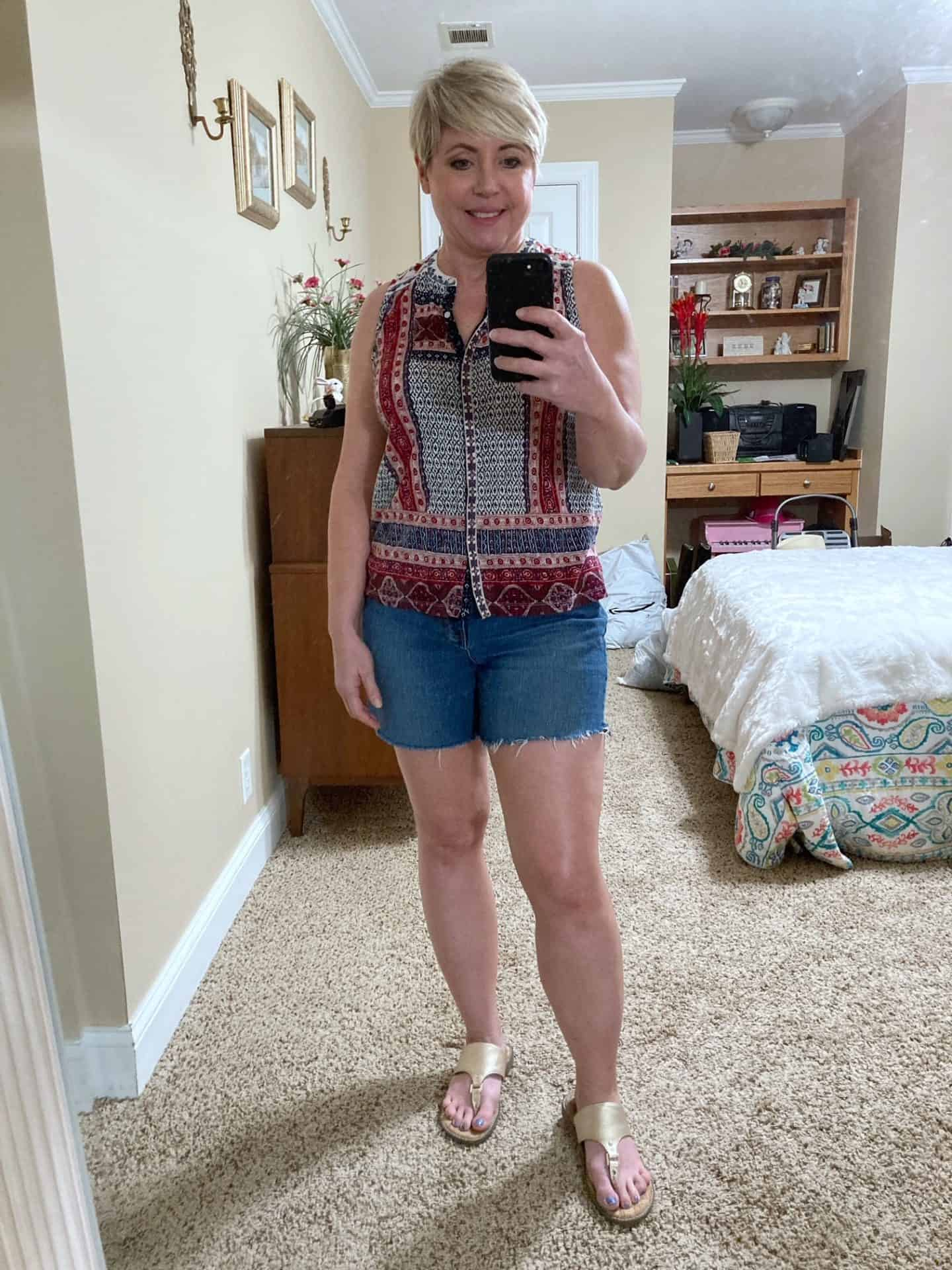 cut off jean shorts outfit