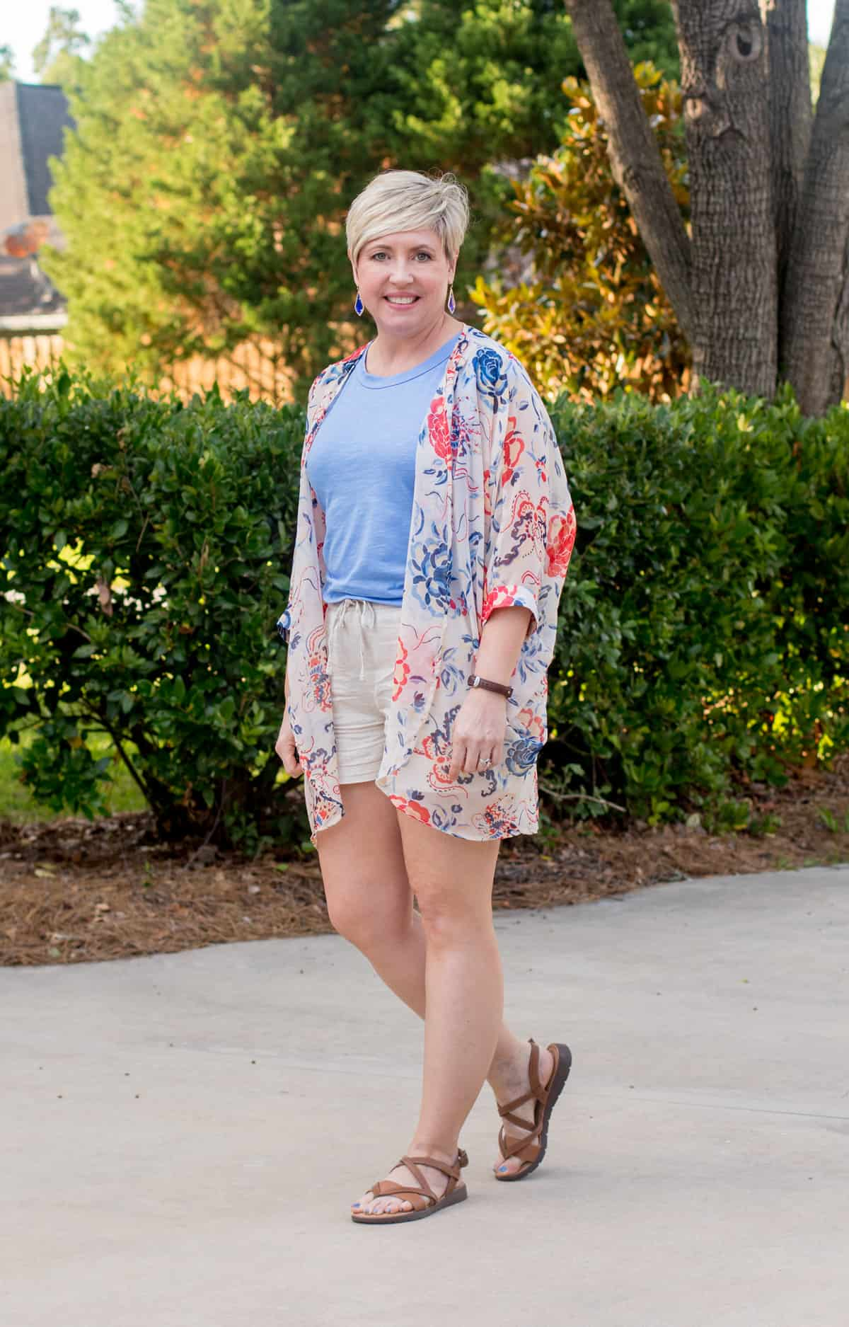 kimono outfit with shorts