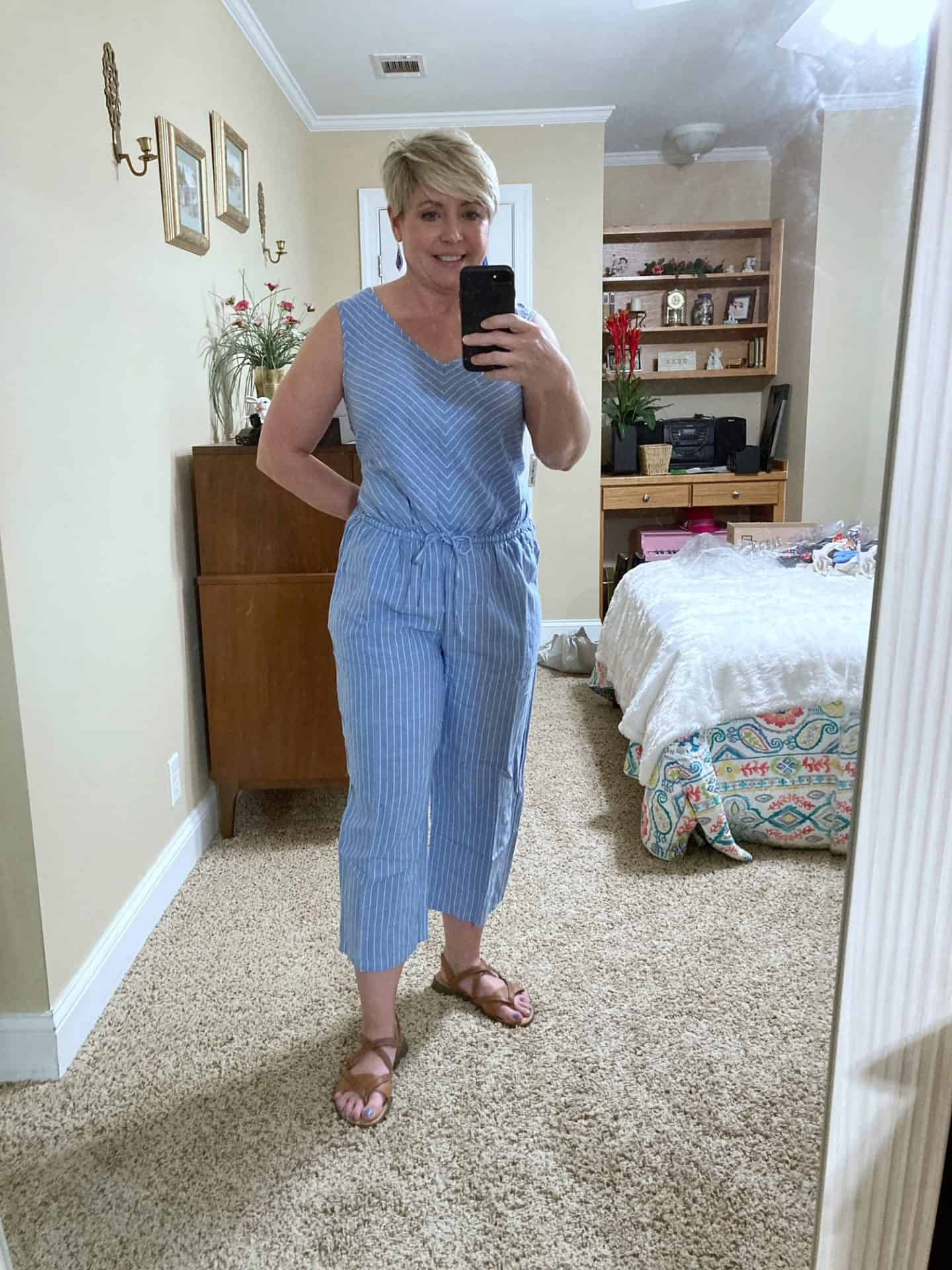 linen summer casual outfit