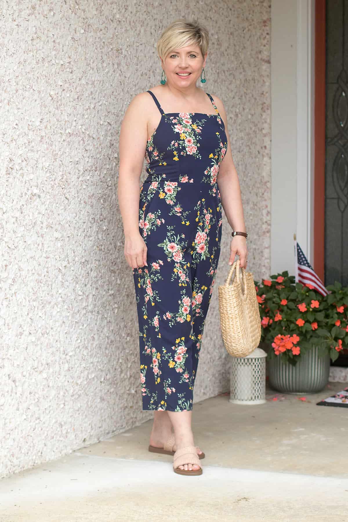 floral jumpsuit summer outfit