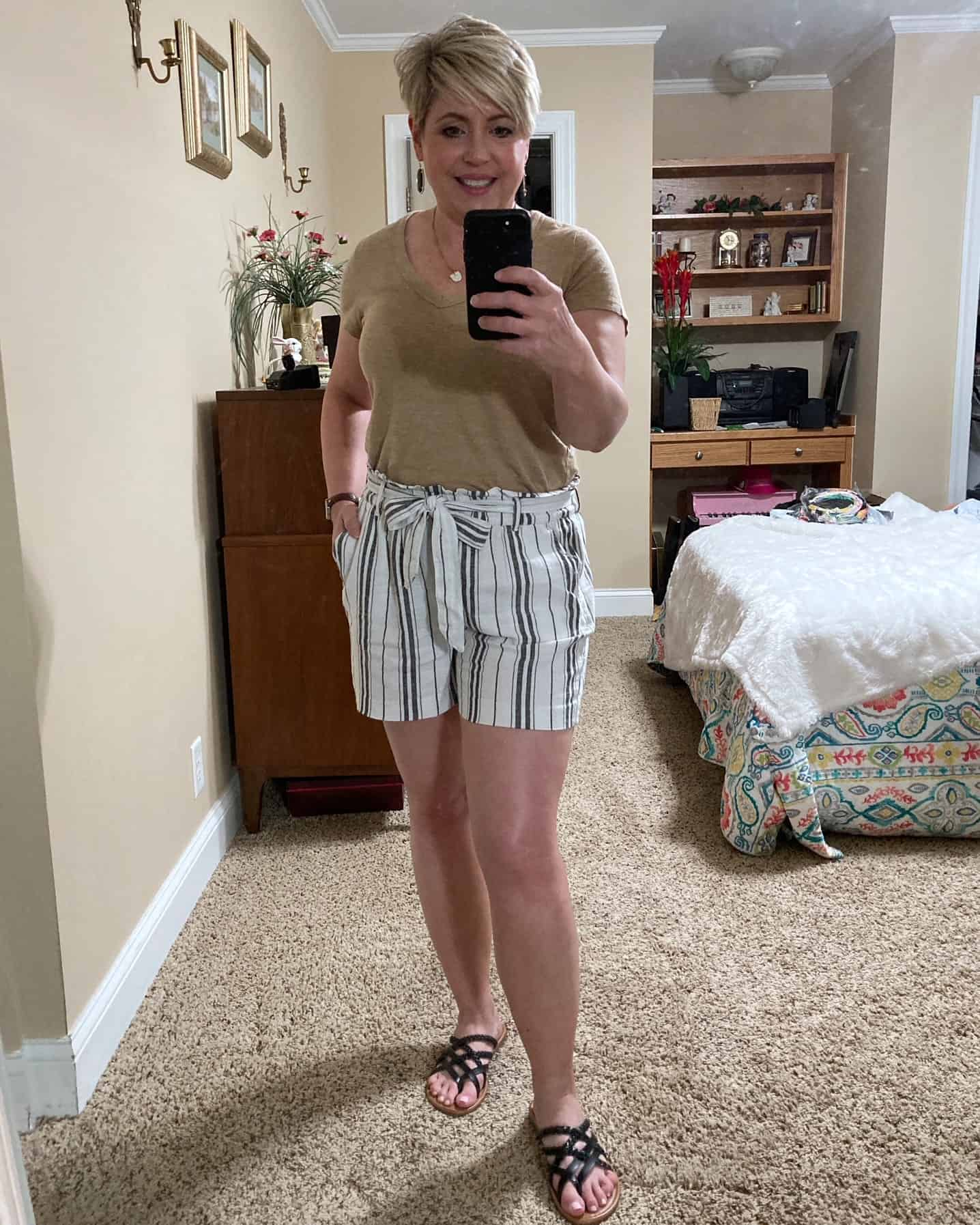 paperbag waist shorts outfit