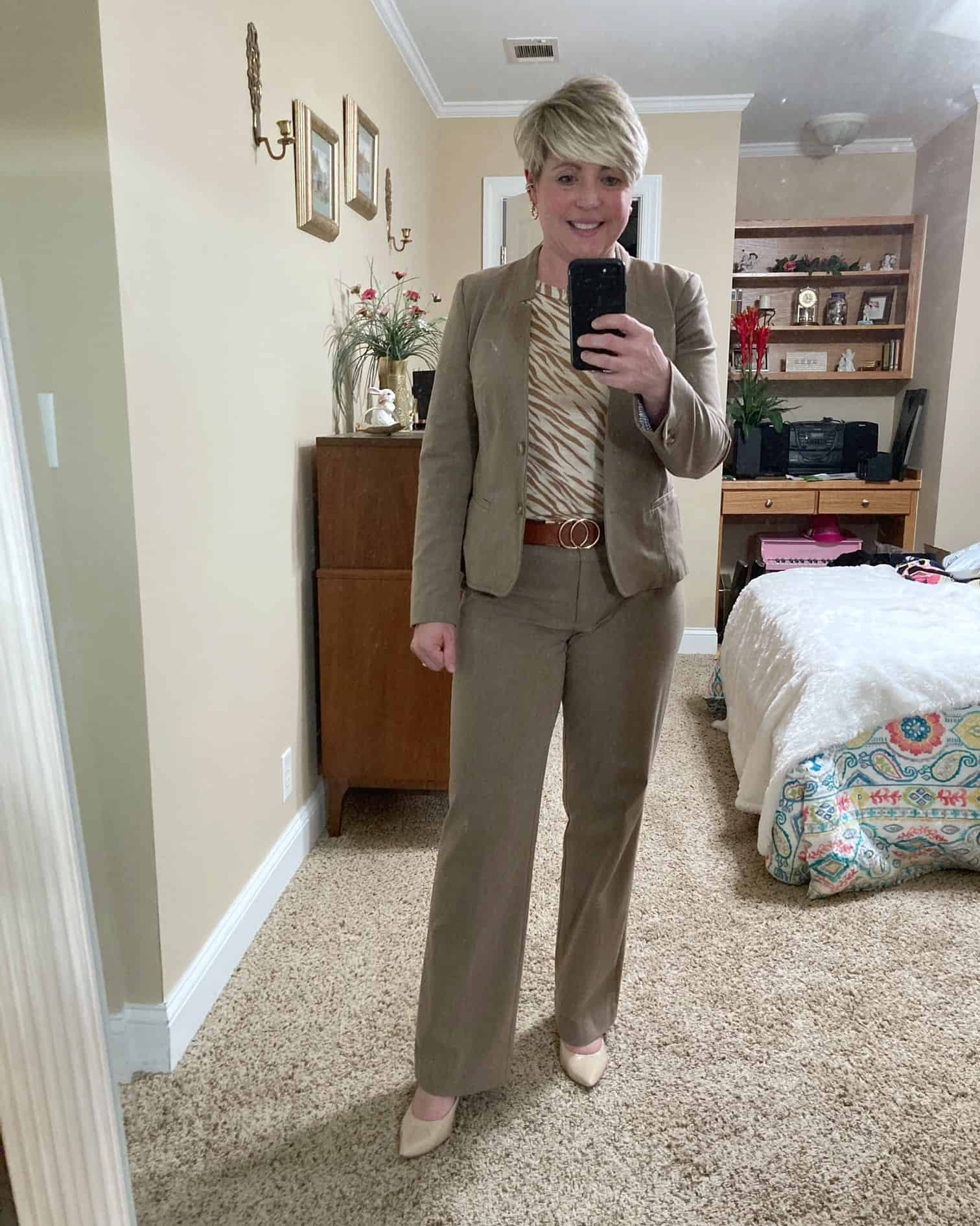 neutral office outfit