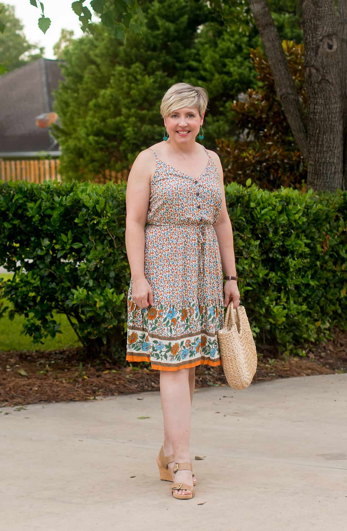 floral summer dress outfit