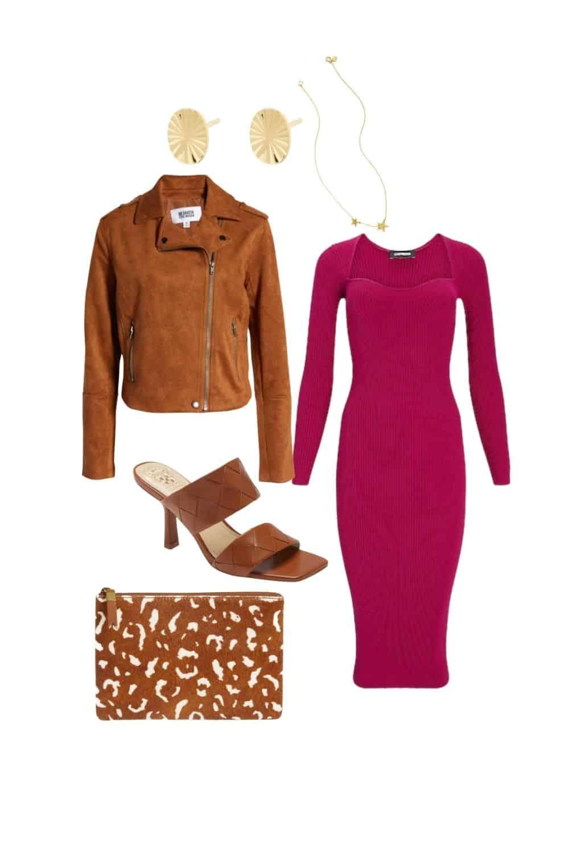 fall date night sweater dress outfit