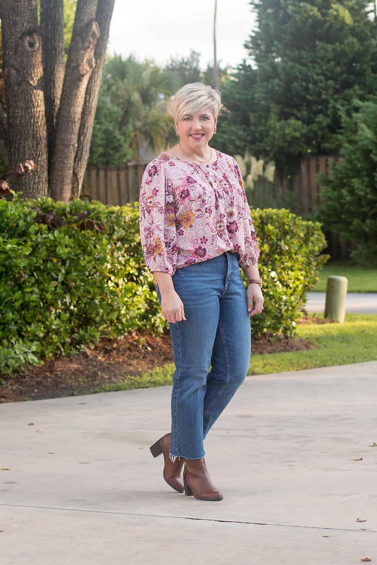 women's fall shirt boho outfit