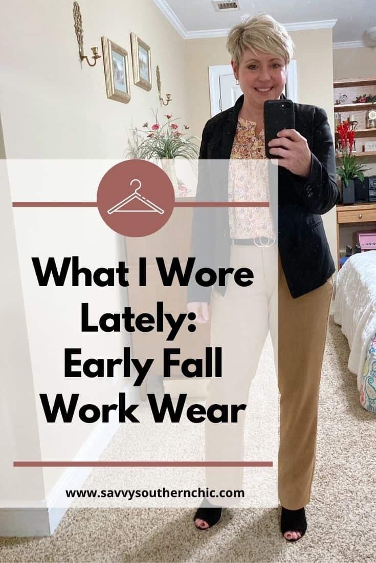 early fall work wear