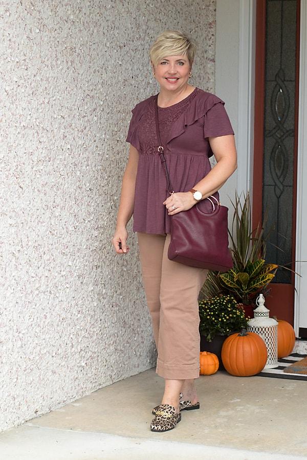 wide leg crop pants outfit